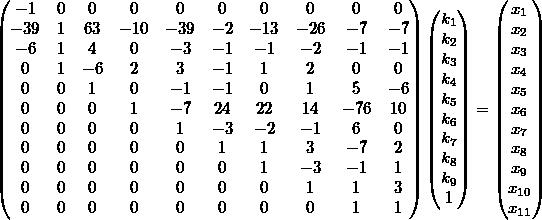 General decision matrix